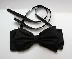 black bow bikini
