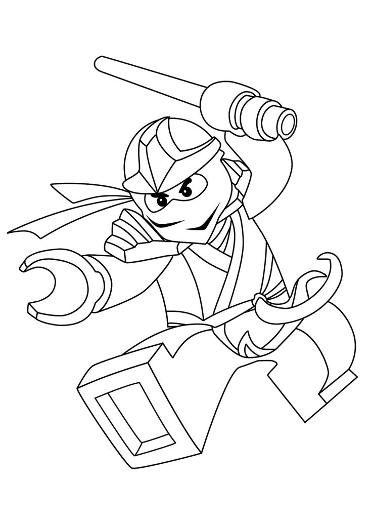 Zane Ninjago Coloring Pages For Kids Printable Free