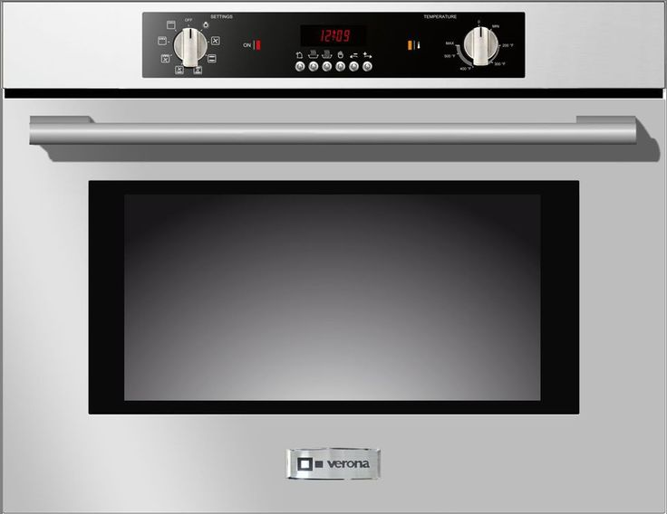 "Verona VEBIEM241SS 24"" 2.8 cu. ft. Total Capacity Electric Single Wall Oven"