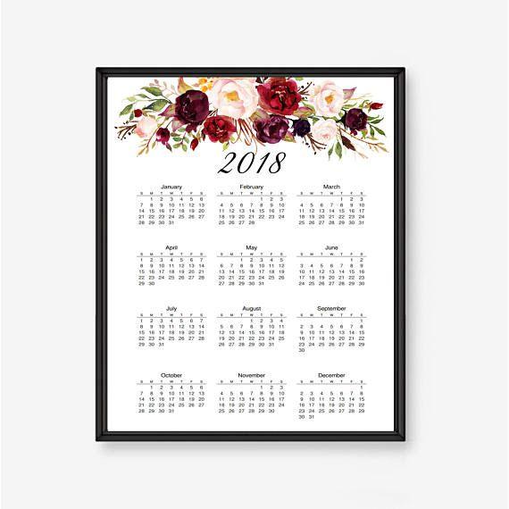 2018 wall calendar desktop calendar 2018 calendar 2018