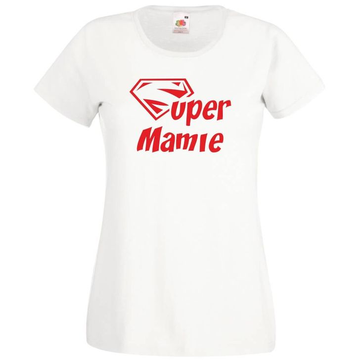 T-shirt imprimé : SUPER MAMIE