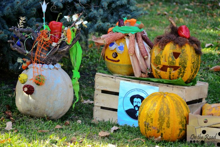 Though the Pumpkin Festival in Kikinda doesn't have a lot to do with Halloween, there were many carved pumpkins just like these ones. However, they were not that scary, mostly just funny and very creative.