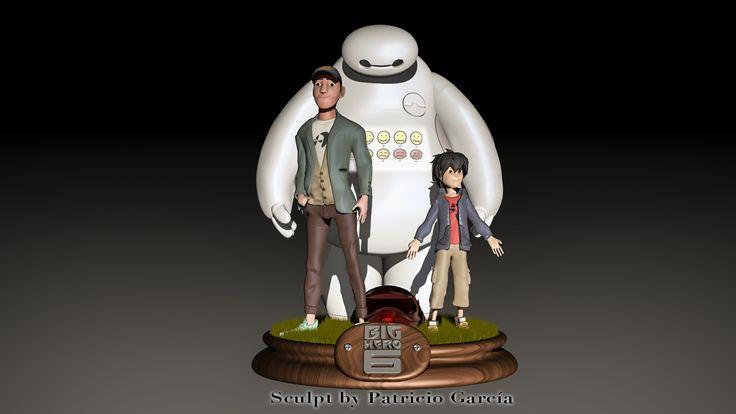 Big hero 6 sculpt in zbrush, (Baymax, Tadashi and Hiro )