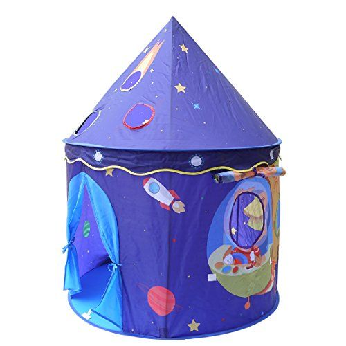 Eggsnow Kids Play Tent Pop Up Children Play House for Princess and Prince Folding Space Castle --Portable for Indoor and Outdoor Fun Plays * Click image for more details.