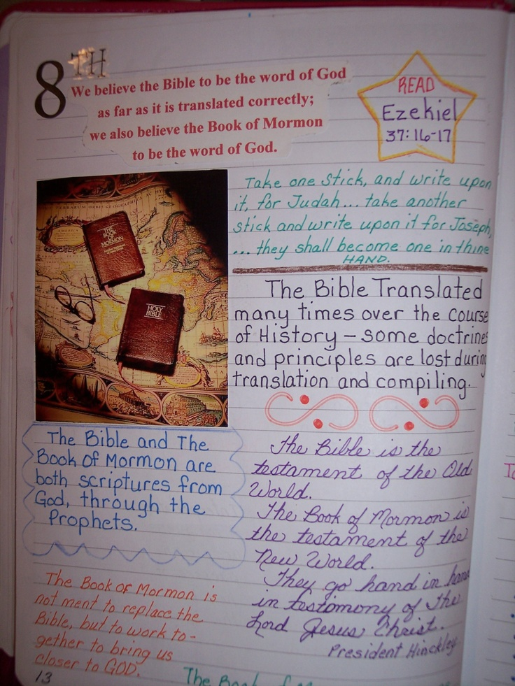 8th article of faith activity