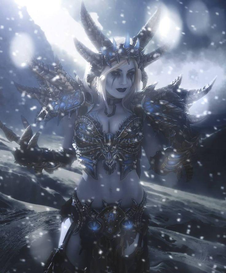Lich King #Warcraft #cosplay by Jessica Nigri. Retouch by Aku.