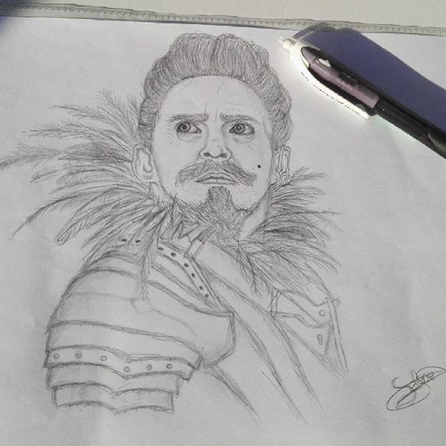 ✏ Hugh Jackman as Blackbeard — Pan.  #hughjackman #blackbeard #drawing #portrait #pan2015 #Art #blackandwhite #pencildrawing #art_assist #pirate #artwork #sketch