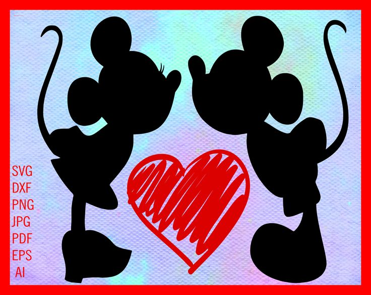 Download Mickey Minnie Kiss SVG Minnie Mickey Love SVG Mickey ...
