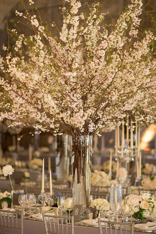 Cherry Blossoms Transformed This New York City Wedding Into a Romantic Indoor Garden | Brides
