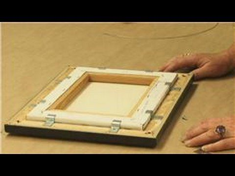 A canvas print is a paper print that's been adhered to a piece of canvas, and offset clips can be used to attach the canvas print into the frame. Discover how changes of temperature in a room can make the canvas sag when framing a canvas print with help from a framing specialist in this free video on canvas print frames.    Expert: Robin Doerr  Con...