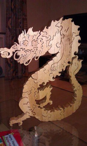 Das Jahr des Drachen als Puzzle Bauanleitung zum selber bauen