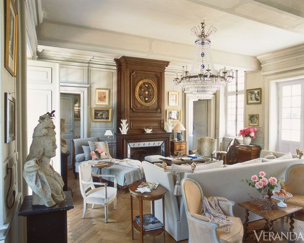 The Boston-based designer's centuries-old house in Normandy. Image originally appeared in the January/February 2012 issue of Veranda. INTERIOR DESIGN BY CHARLES SPADA   - Veranda.com