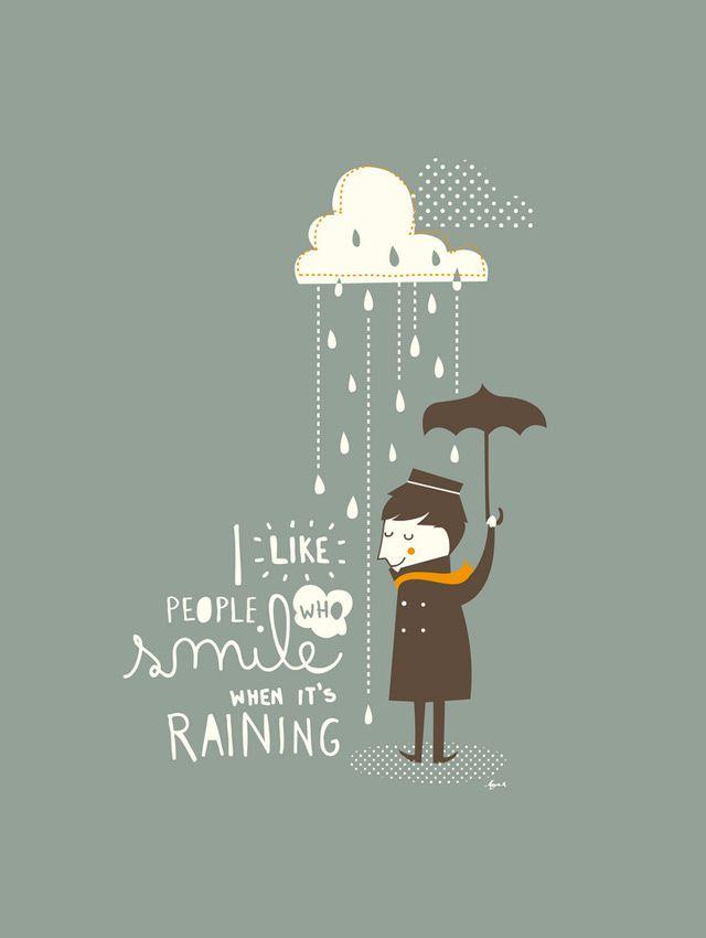 Illustration 'Rain' by Mayra Magalhaes