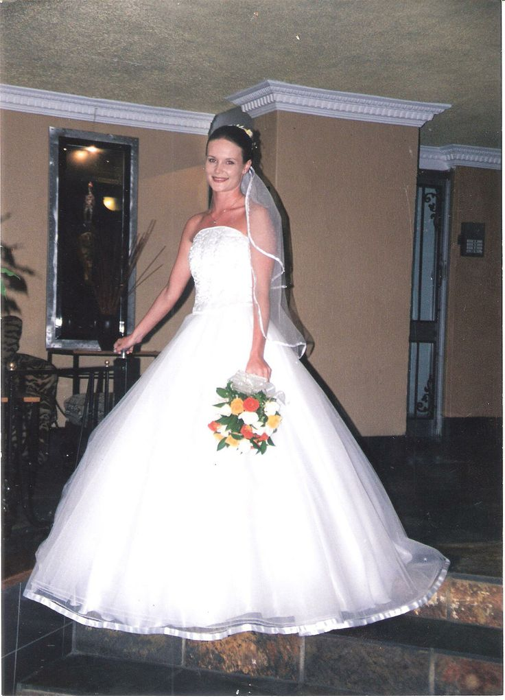Stunning A-line ball gown wedding gown