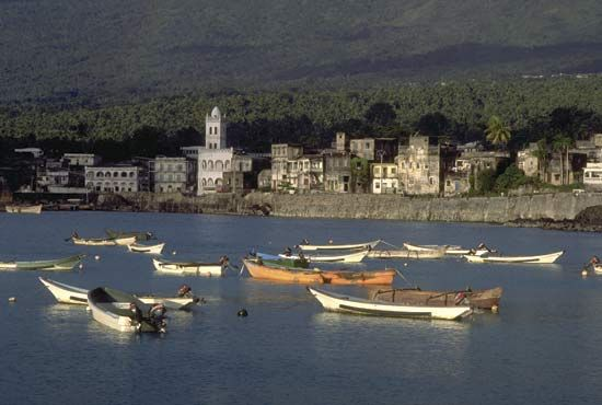 Moroni is the capital and the largest city of the Comoros. The Comoros are an island nation off the coast of East Africa, in the Indian Ocean between northern Mozambique and northern Madagascar.