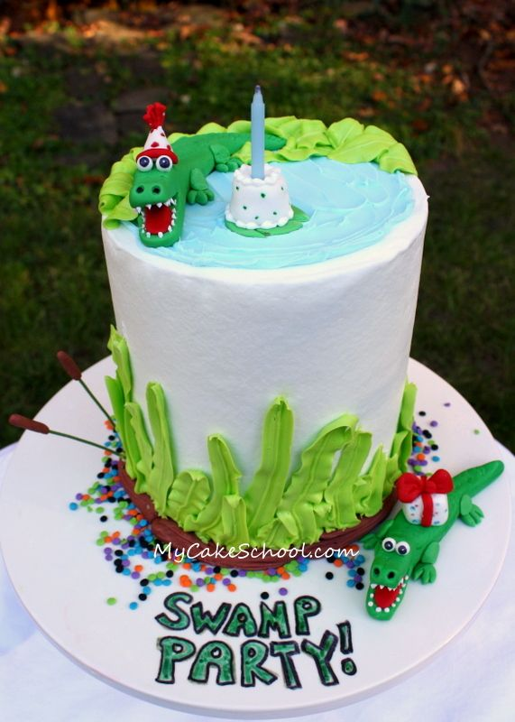Alligator cake by @My Cake School