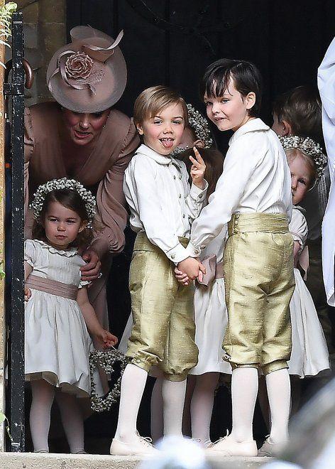 Il matrimonio di Pippa Middleton, George e Charlotte: paggetto e damigella