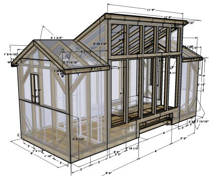 greenhouse plan with garden shed could make nice tiny house too