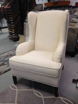 taylor king cheswick wing chair in fabric floor model sale reg