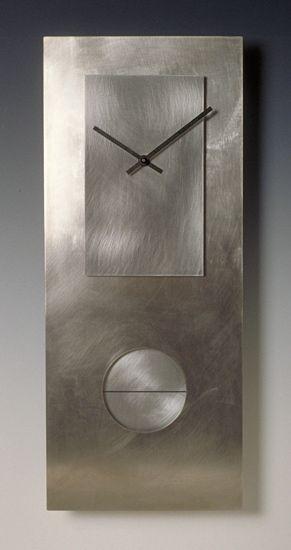 Steel on Steel 24 Pendulum Clock: Leonie Lacouette: Metal Clock - Artful Home