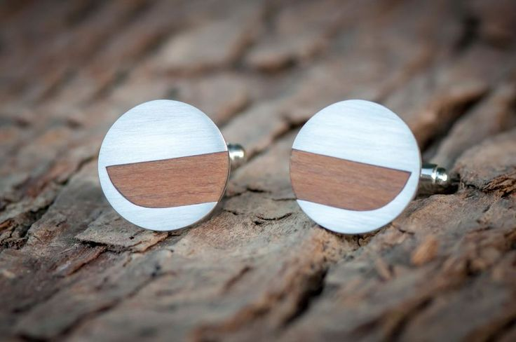 New Zealand native Rimu timber and silver cuff links are in stock! A perfect match with our Rimu tie slide. By The Rolling Mill, Wellington, New Zealand.