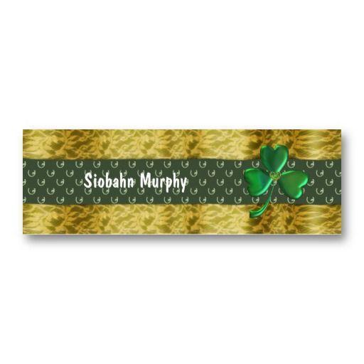Lucky Gold shamrock horseshoes Business Card #businesscards