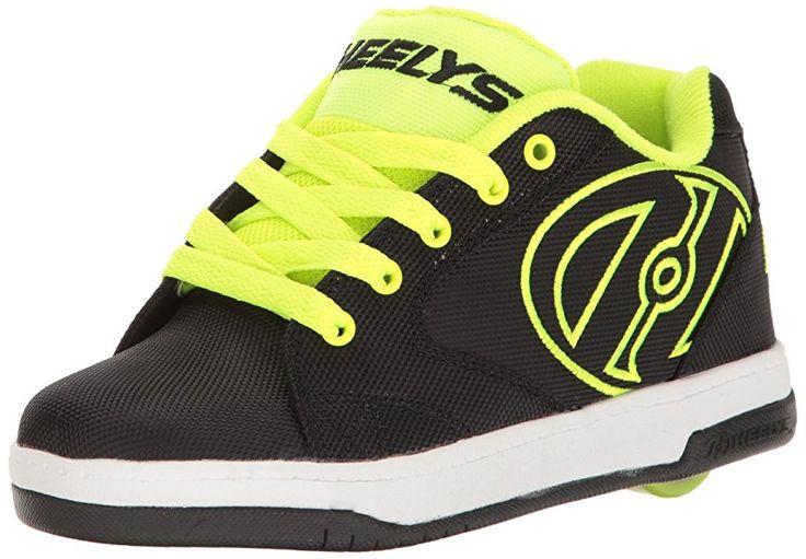 Heelys boys Propel 2.0 Sneaker, Black Black Red, Black (Black / Bright Yellow / Ballistic), 1 UK