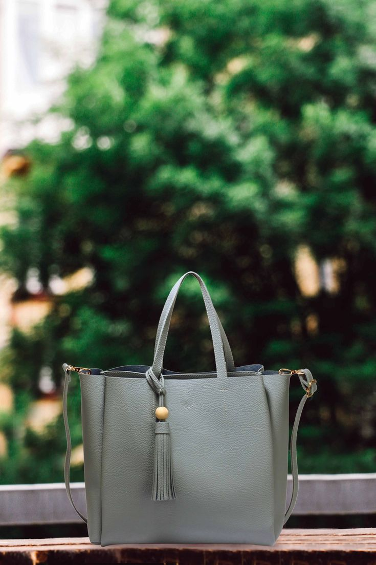 This handbag is one of the main ingredients for the cool look.