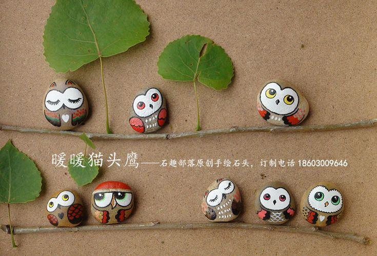 Galets peints une chouette famille diy enfants for Deco avec des galets