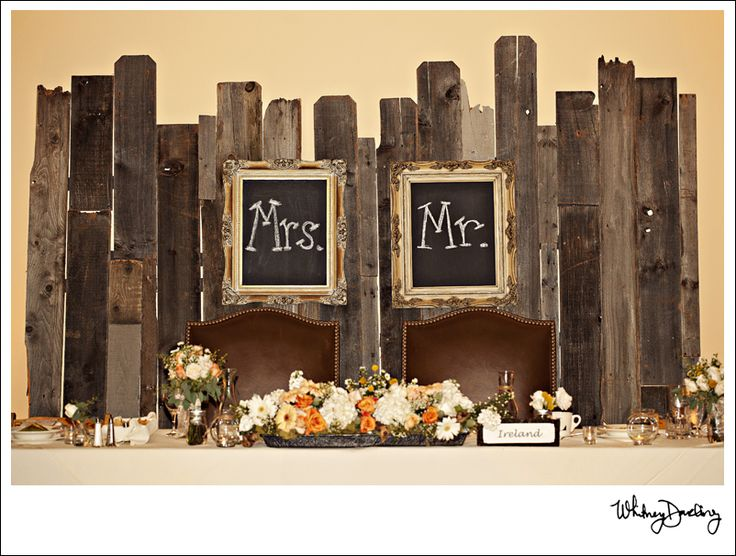 such a sweet wedding table for the bride & groom!