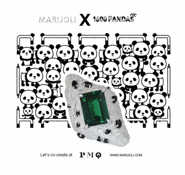 """I immediately felt compelled to design something as I truly believe in what this cause stands for. It's quite shocking to think the world's panda population has become so small. I hope my creation can help raise awareness to help save these precious animals in some way."" #pmqhkdesign #wwfhk #pmq #MARIJOLI #WWFHK #MAPANDA #1600Pandas #PauloGrangeon  #1600PandasHK"