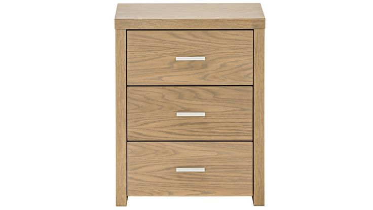 Home :: Bedroom :: Lochy's Bedside Table_Bedroom Furniture :: Bedside Tables :: Slim 3-Drawer Bedside Table