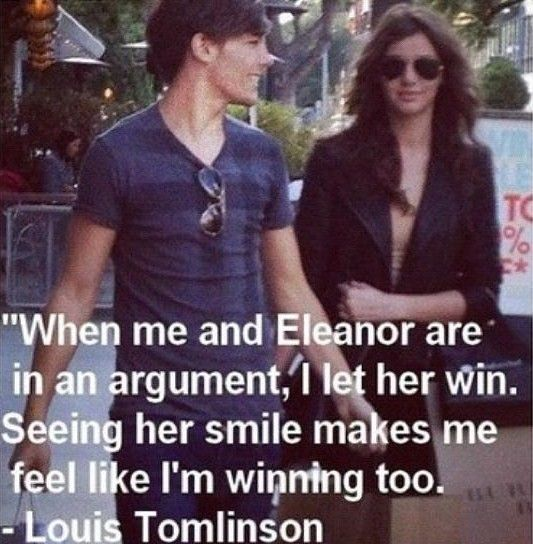 Louis Tomlinson and Eleanor Calder have the best relationship! Perfect couple ever!(but we thought the same thing with Liam and Danielle)