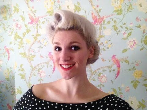 Victory Rolls with Gibson Roll Vintage Hair Tutorial - YouTube