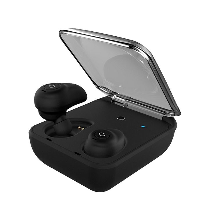 T-TOPER V4.1 Invisible Wireless Earbuds Surround Sound In Ear Bluetooth Earbuds with Charging Case (Black)