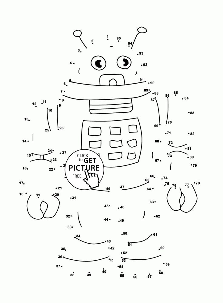 Robot Connect the Dots coloring