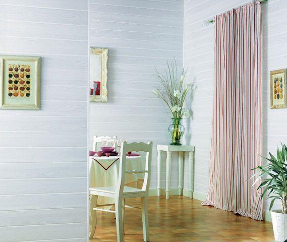Lambris PVC Country blanc 6,95 u20ac m2 Castorama Salle de bain +