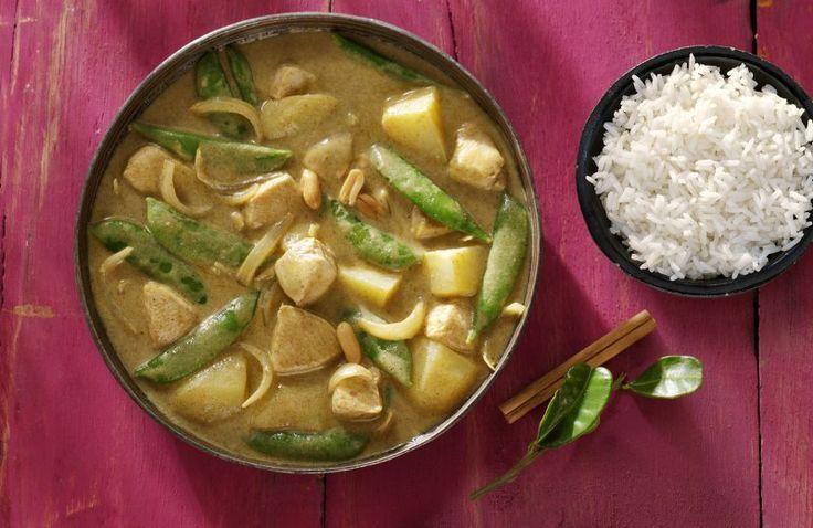 Thaise Massaman Curry met kip en aardappelen