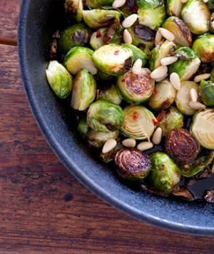 Braised Brussels Sprouts with Pancetta, Balsamic, and Breadcrumbs