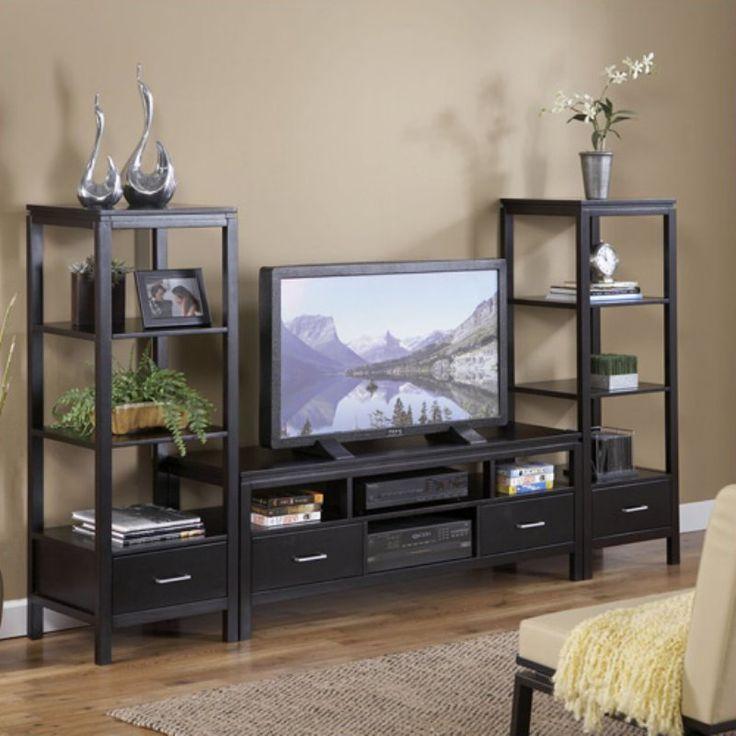 Sutton Black Plasma TV Entertainment Center - LHD813