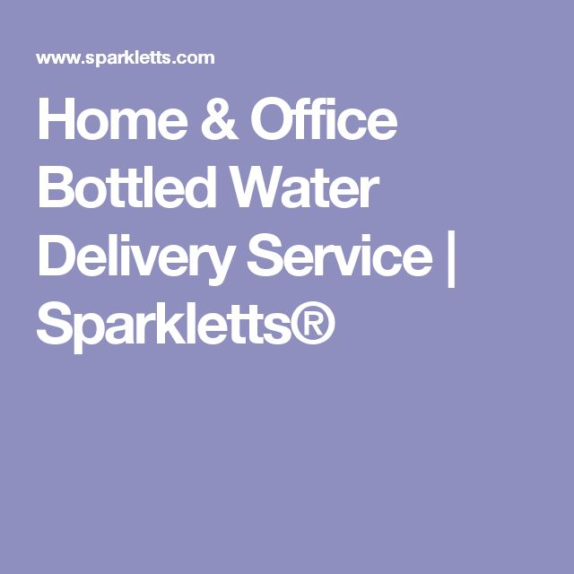 Home & Office Bottled Water Delivery Service | Sparkletts®