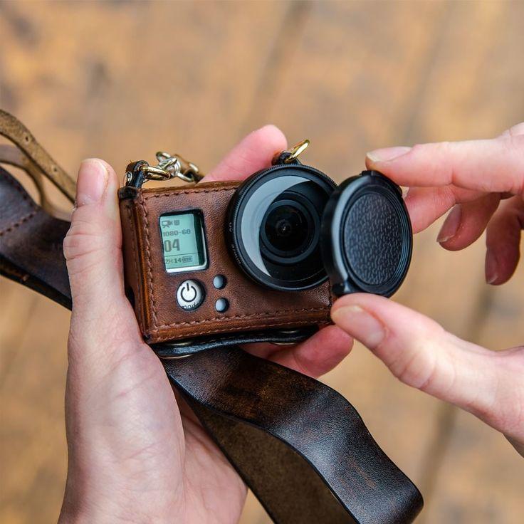"GoPro Handmade leather case ""New Woodman"""
