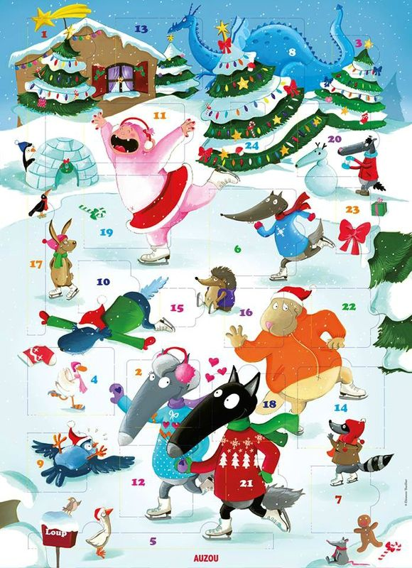 calendrier de l'avent Loup Noël