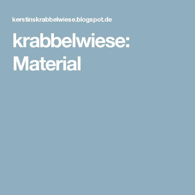 krabbelwiese: Material