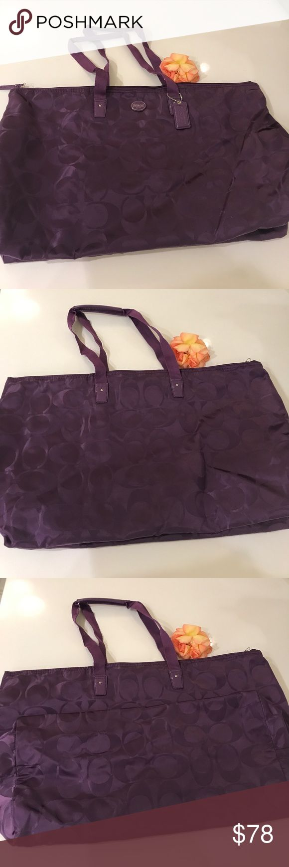 💯Authentic Coach Cute C Print Travel Bag 👜 👜NWOT Coach Travel Bag, very cute design and casual style, easy to go with any outfits, super comfy and soft to wear, perfect for travels/weekends/ shopping, never used in perfect condition 🎀🎀🎀                                                                                     👛👛👛No Trade, sorry 🛍🛍🛍                                           💰💰💰Bundle and Save💸💸💸 Coach Bags Travel Bags