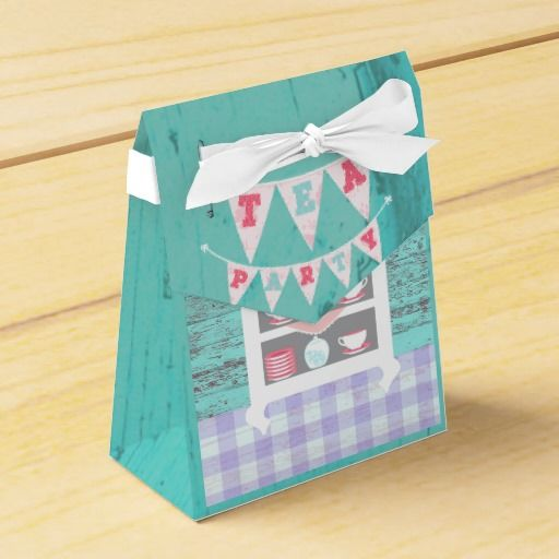 Girl's Birthday Tea Party Shabby-Chic Personalized Party Favor Box