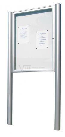 Vitrinemasters.com - Buitenvitrine Op Staander 250x75x75