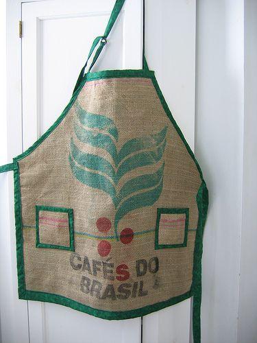 Cafes Do Brasil Coffee Sack Apron   por dvautier