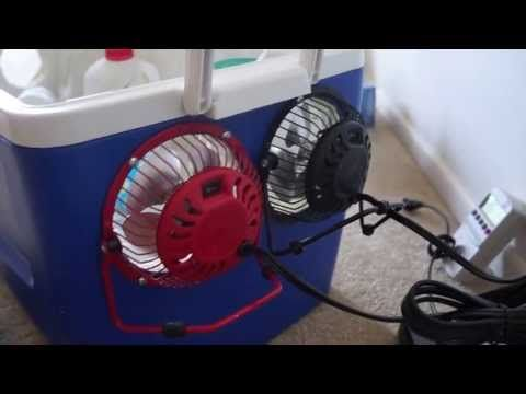 Homemade air conditioner DIY - Awesome Air Cooler! - EASY Instructions - can be solar powered! - YouTube