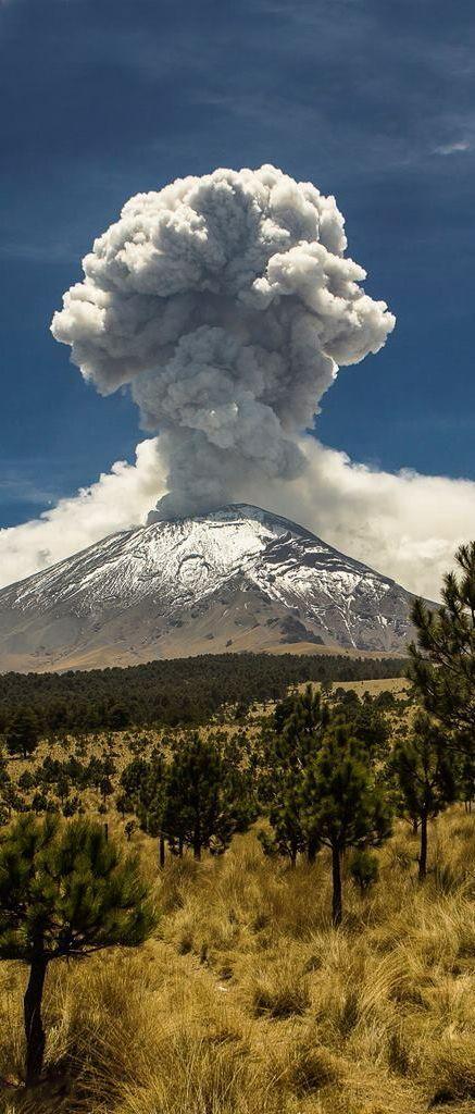 Popocatepetl volcano Mexico